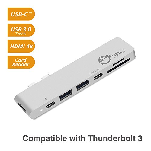 SIIG Thunderbolt 3, Aluminum USB Type C Hub with 4K @30Hz HD