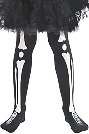 a69b4a3ffa4d6 Girls Black White Skeleton Bones Halloween Horror Scary Legs Accessory Fancy  Dress Costume Outfit Tights 4-9 years: Amazon.co.uk: Toys & Games