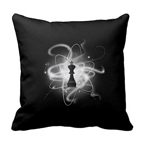 Price comparison product image B W Retro Atomic Chess Piece King Queen Soft Decorative Throw Pillow Case Cover