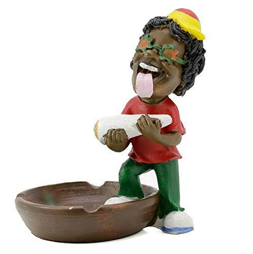 Rasta - Cenicero (Resina, cáñamo), diseño de Bob Marley, 020