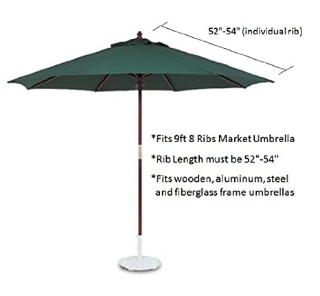 Amazon.com  9ft Market Umbrella Replacement Canopy 8 Ribs Taupe (Canopy Only)  Patio Umbrellas  Garden u0026 Outdoor  sc 1 st  Amazon.com & Amazon.com : 9ft Market Umbrella Replacement Canopy 8 Ribs Taupe ...