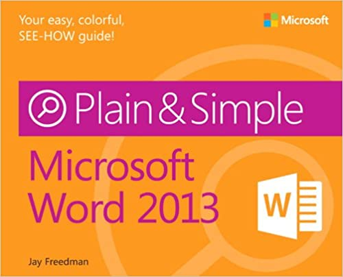 Microsoft Word 2013 Plain Simple 1st Edition