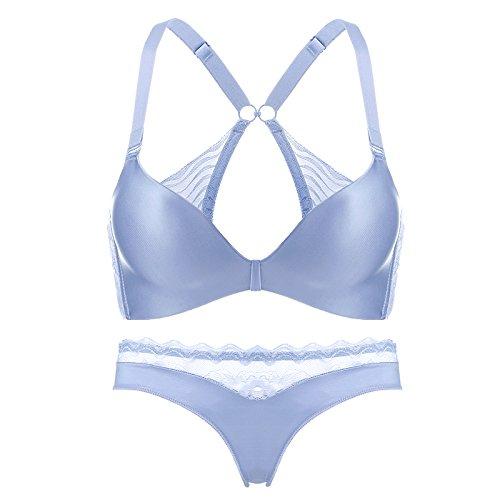 Sin Costura Inalámbrico Acero Mujeres Cómodo Yukun Interior Ropa De Sujetador Blue Anillo Costuras IxgpnPwAUq