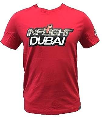Inflight Dubai Red Round Neck T-Shirt For Men