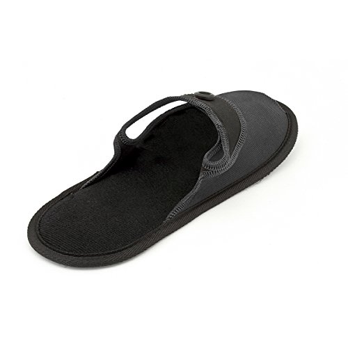 Wankerl Unisex Portable Folding Slippers Outdoor Travel Non-Slip Light Slippers Folding Beach Shoes With Storage Carrying Bag Black cqMdsVE3du