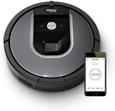 iRobot Roomba 960 Robot Aspirapolvere, Sistema di Pulizia Dirt Detect, Spazzole Tangle Free, per Pavimenti e Tappeti, Ottimo per i Peli degli Animali,