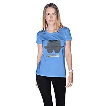 Creo Beach Hat Glasses T-Shirt For Women - Xl, Blue
