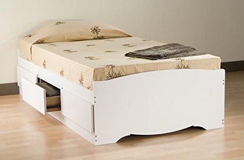 Prepac 3 Drawer Twin Platform Storage Bed - White