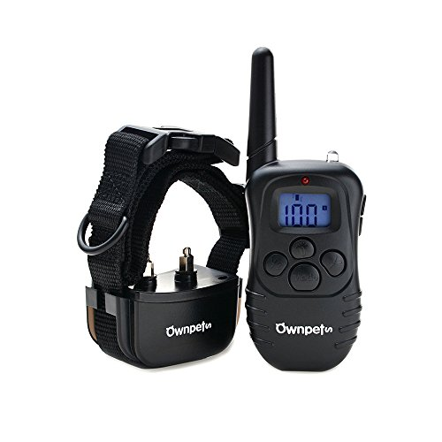 Ownpets-Rechargeable-Dog-Training-Collar-with-Remote-4-Dog-Training-Modes-Static-ShockVibrationBeepLight-for-Medium-or-Large-Dogs-Memory-Function-330-Yards-working-range-2-Versions-for-Optional