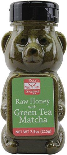 Green Ice Cream - Teas Unique Raw Honey with Green Tea Matcha, 7.5oz (215g)