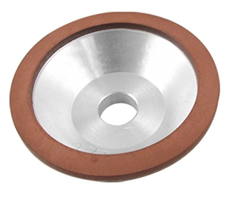 Preamer Resin Bonded Flaring Cup Diamond Grinding Wheel 100x32x20x10x3mm , 240 Grit by Preamer
