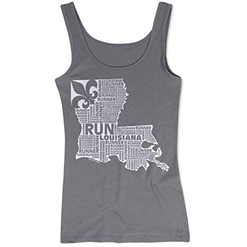 Runners Tank Top by Gone For a Run   Womens Tank Top   Louisiana State Runner   Charcoal   (Louisiana State Runner)