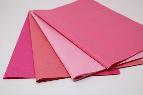 Pink Mix 2 - Gift Wrapping Tissue Paper 96 Sheets 15'' x 20''   Colors of Rainbow by Colors of Rainbow