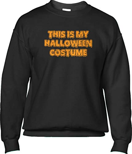 (Blittzen Mens Sweatshirt This is My Halloween Costume - Funny, S,)