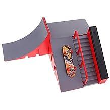 MonkeyJack Kids Skate Park ABS Skateboard Ramp for Tech Deck Fingerboard Finger Board C