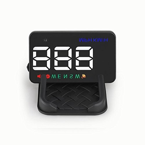 Mengbaobao MBB Universal 3.5 inch Car HUD Head-Up Display Windshield Screen Projector Vehicle Speed Warning GPS Navigation Compass
