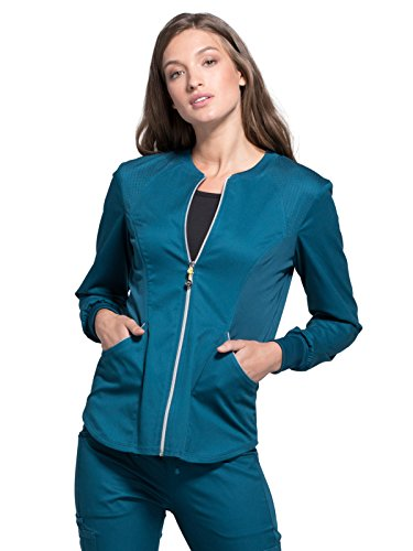 Cherokee Luxe Sport CK300 Zip Front Warm-Up Jacket Caribbean Blue M