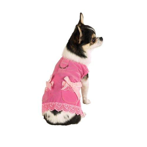 Zack & Zoey Velvet & Lace Dress Xsm Pink ()