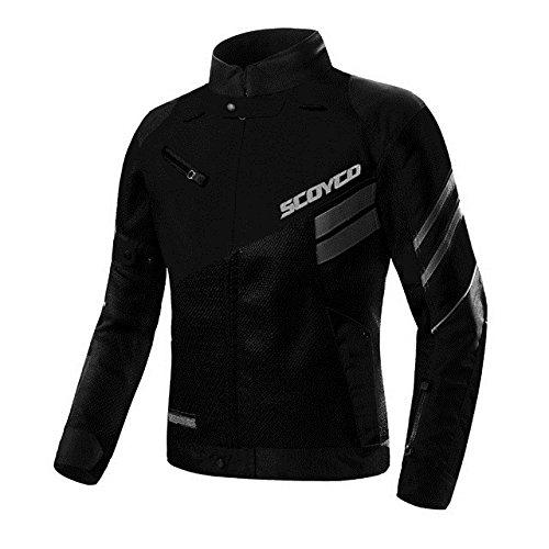 Scoyco - chamarra de primavera/verano para motocicleta de carreras de motocicleta, chamarra reflectante ventilada JK36...