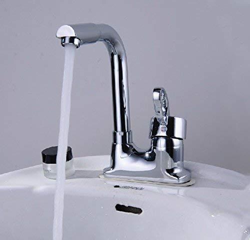 Eeayyygch Waschbeckenarmatur aus Kupfer mit DREI Löchern und Zwei Löchern drehbar Mischbatterie Badezimmer WC Waschbecken Wasserhahn Waschbecken, a,