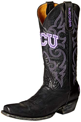 NCAA TCU Horned Frogs Men's Board Room Style Boots, Black, 9 D (M) ()