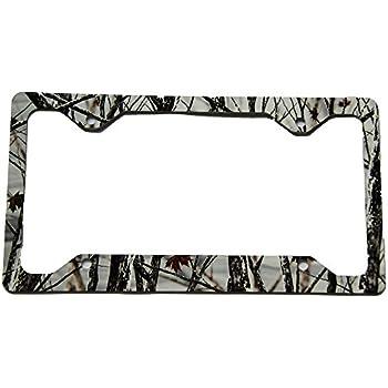 Amazon.com: Savage Snow Camo License Plate Frame: Automotive