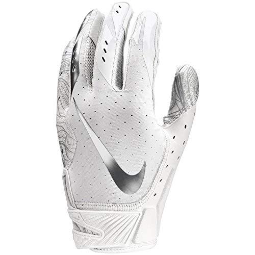 Men's Nike Vapor Jet 5.0 Football Gloves White/Chrome Size Medium (Nike Vapor Elite Batting Gloves)