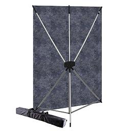 Westcott 575K  X-Drop Kit with 5 x 7 Feet Slate Backdrop (Purple/Silver)