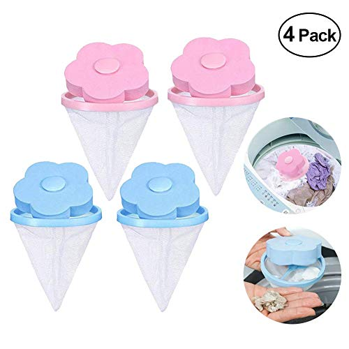 Piece Washer - JClover Household Reusable Washing Machine Floating Lint Mesh Bag Portable Washer Lint Catcher Hair Filter Net Pouch