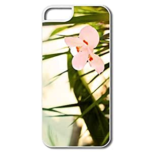 Case For Iphone 5/5S Cover, Beautiful Pink Flower White Covers Case For Iphone 5/5S Cover
