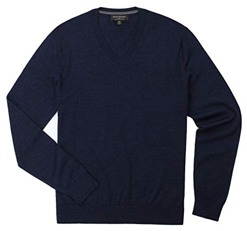 Banana Republic - Men's - Merino Wool V-Neck Sweater (Multiple Color/Size Options) (Medium, Navy) from Banana Republic