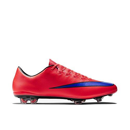 Nike Mercurial Vapor X FG Soccer Cleat (Bright Crimson) (...