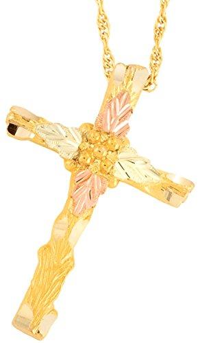 (Black Hills Gold Cross Necklace)