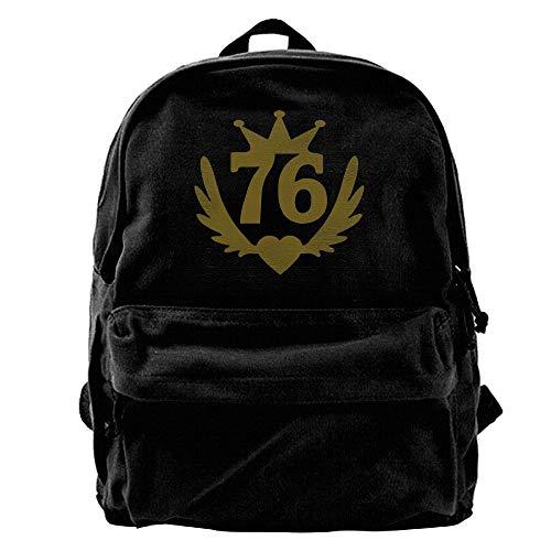 76 Real Winged Heart Canvas Backpacks Travel Rucksack Backpack Laptop Shoulder Bag (Winged Handbag Heart)