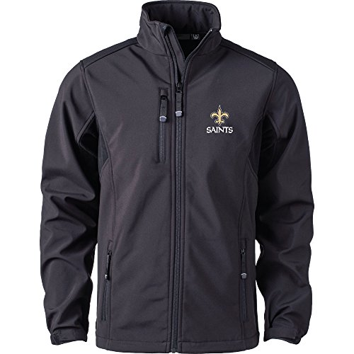 NFL New Orleans Saints Softshell Jacket, Black, Small