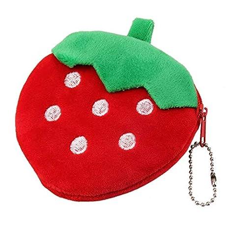 Kongqiabona Chicas Elegantes Frutas Monederos Niños Felpa ...
