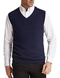Men's Knitting Vest Stylish & Slim Fit Pullover Sleeveless V-Neck