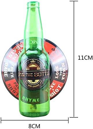 SODIAL Botella giratoria Juego de Beber un Tiro Vidrio de la Ruleta de la Placa giratoria: Amazon.es: Juguetes y juegos