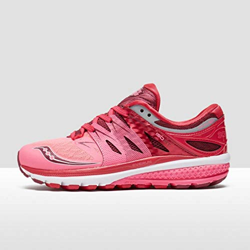 2 4 Neutral Zealot Women Running Saucony Red Pink Iso Shoe Shoes RxU6qwA