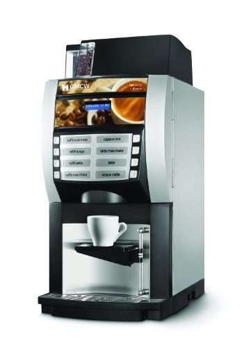 Grindmaster, Korinto 1/2, Super-Automatic Espresso Brewer with Built in Coffee Bean Hopper and 2 Soluble Hoppers, Installation Included