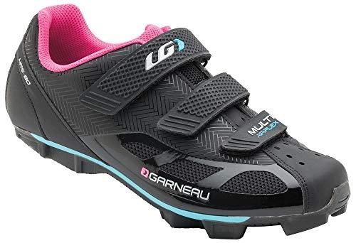 Louis Garneau Women's Multi Air Flex Bike Shoes, Black/Pink, US (8), EU (39)