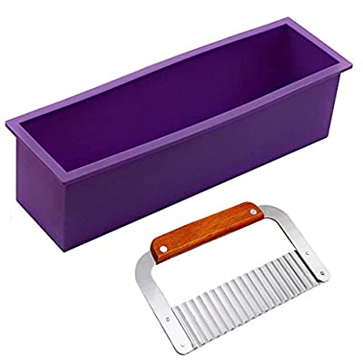 DD-Life Flexible Rectangular Soap Silicone Loaf Mold Wood Box for 42oz Soap Making Supplies from DD-life