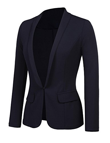 Kaimu Women's Casual Long Sleeve Open Front Blazer Work Office Cardigan Classic Jacket Suit by Kaimu (Image #2)
