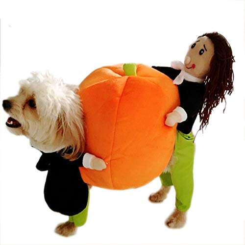 Momo pet Dog cat Costume Dog Halloween Christmas Apparel Clothes Carrying Pumpkin Funny Fancy Jumpsuit Puppy Cosplay Outfit Suit Jacket Keep Warm in Winter for Small Medium Dogs and Cats]()