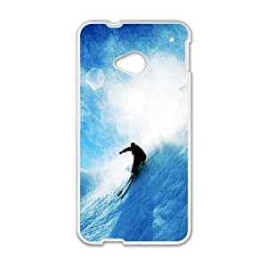 HTC One M7 Phone Case White Skiing WE9TY657322