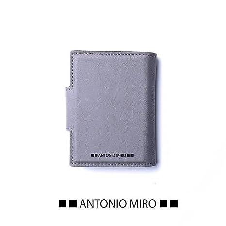 Juego 2 piezas, cartera piel y tarjetero piel GRIS ANTONIO ...