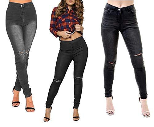 Seeitwearit Seeitwearit Donna Jeans Dark grey Jeans BWq76WnU