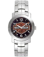 Harley Davidson 76A019 Mens Black Dial Bracelet Watch