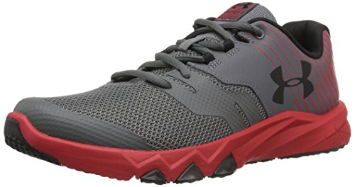 Under Armour Boys' Grade School Primed 2, Graphite/Red/Black, 6 M US Big Kid