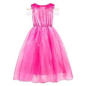 - 41lO0lo 2B0kL - Filare Rapunzel Aurora Costume Dress Up Princess Girls Birthday Party Cosplay Clothes